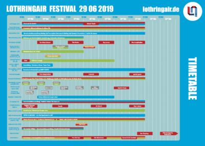 Der Fahrplan mit allen Events für das LOTHRINGAIR am 29.6.2019